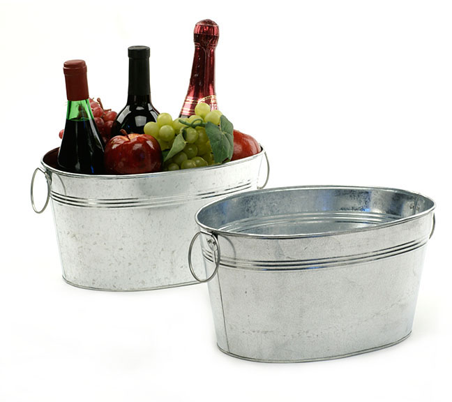 Galvanized Oval Deep Tub 12 inch