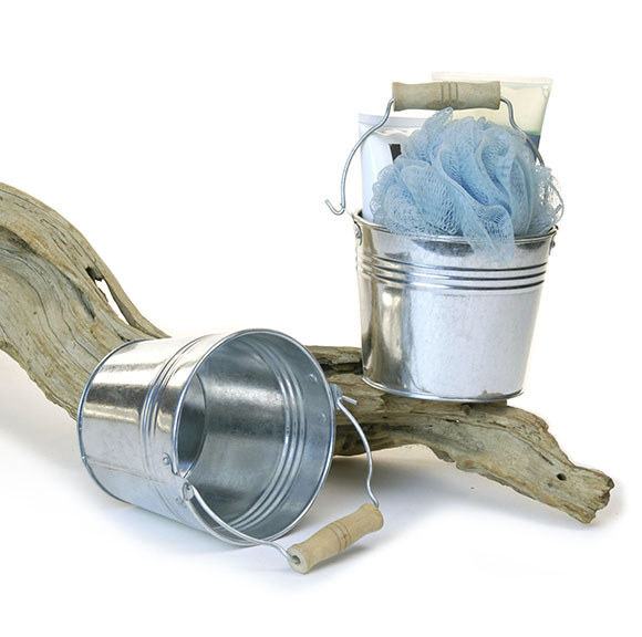 Galvanized Pail 5 inch Wood Handle
