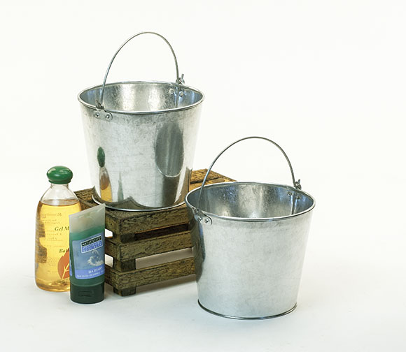 Galvanized Pail Bucket 7 inch Round No Ridges