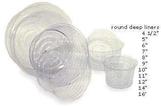 10 inch Round Hard Plastic Liner For Fresh Floral Arrangement