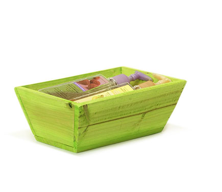 Rectangle Wood Tray 10 inch Green Wash
